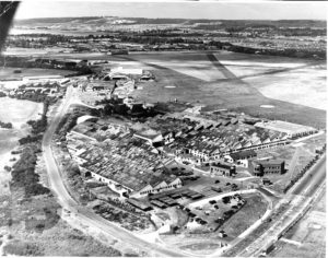 A post-war photograph of Portsmouth Airport.