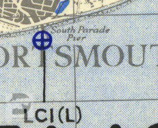 South Parade Pier shown on a 1944 map of Marshalling Area A.