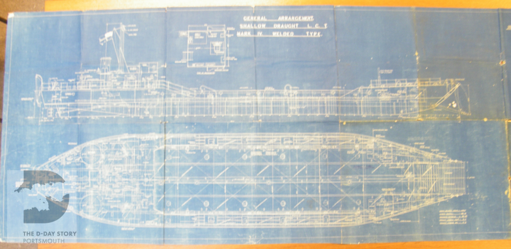 The d day story portsmouth a blueprint of plan of a landing craft tank lct mark iv dated malvernweather Image collections