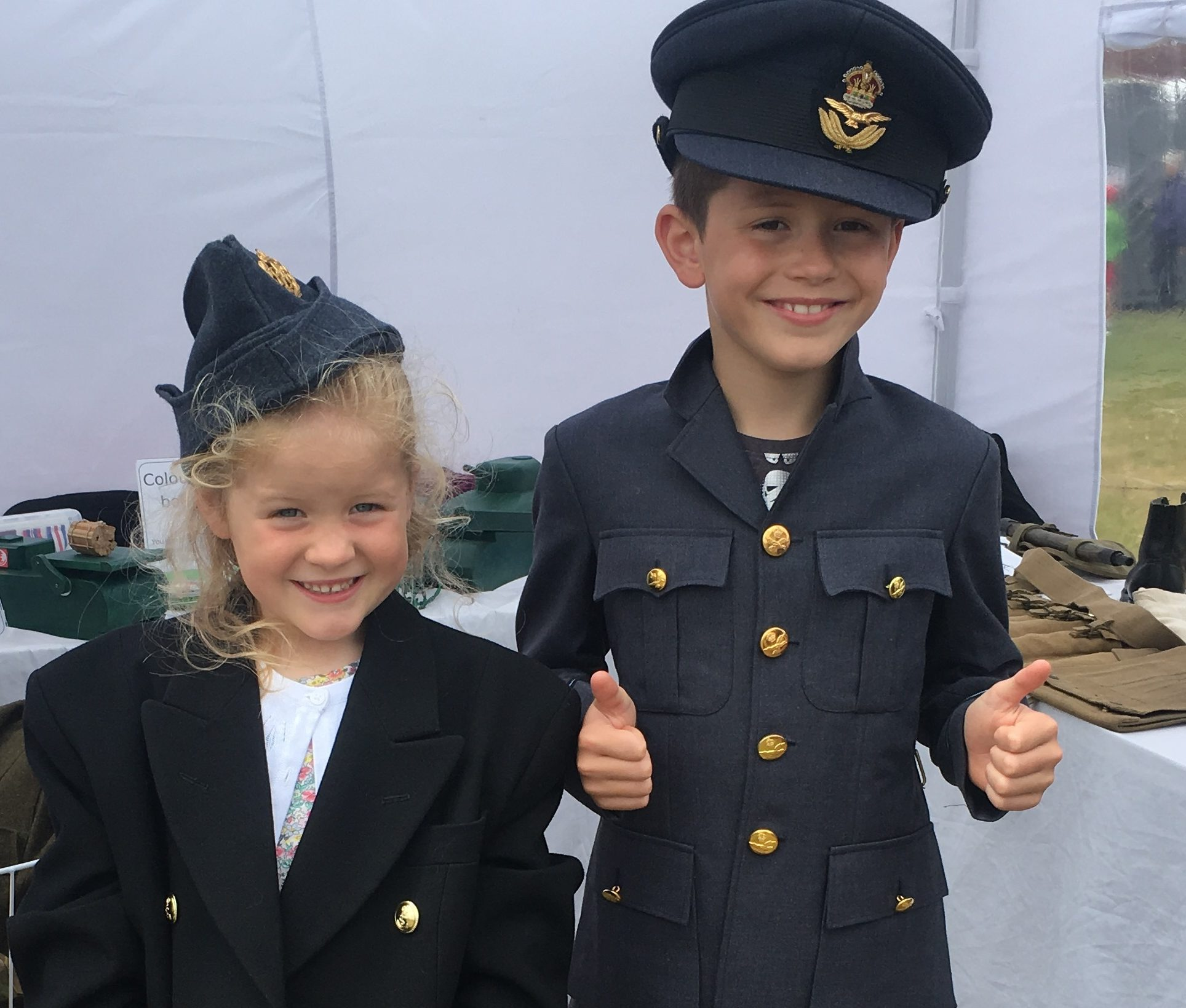 Children taking part in a pop up museum event