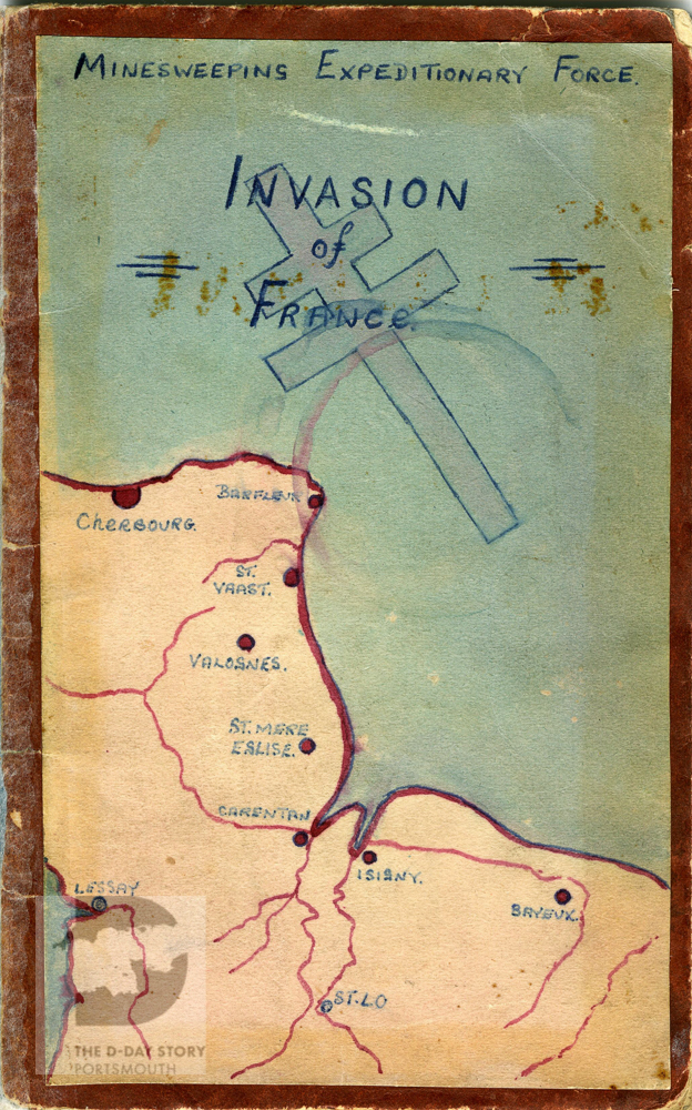 Scan of an illustration titled Minesweeping Expeditionary Force: Invasion of France