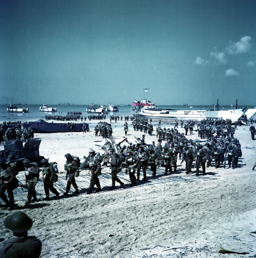 Canadian troops land later on D-Day.