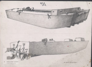 Wren Moira Cruickshank was based at HMS Northney. She produced drawings of landing craft that were used to train crews.