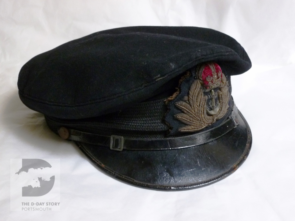 The Royal Navt Cap of Sub Lieutenant John Ellis