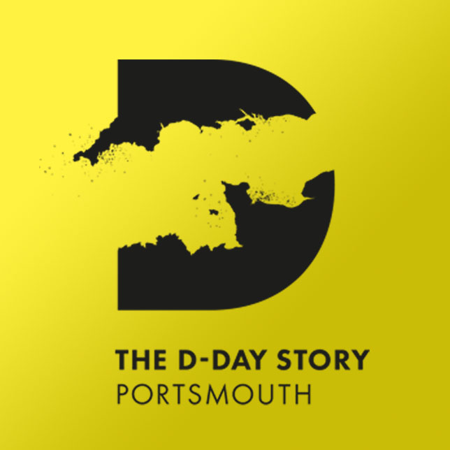 The D-Day Story logo on a gold background