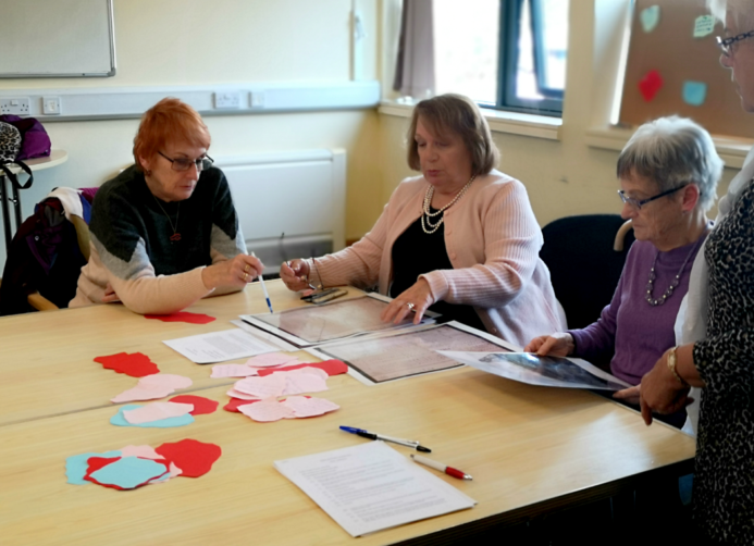 John Pounds community group carrying out research at the community centre.