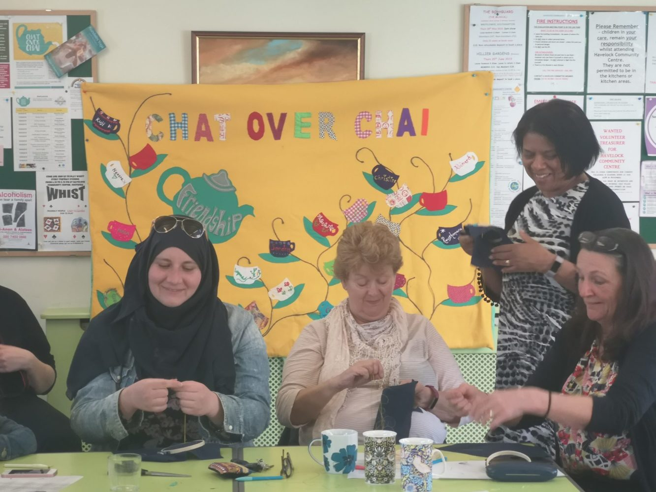 Chat Over Chai group craft activities