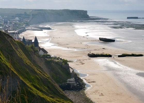 A D-Day beach in Normandy