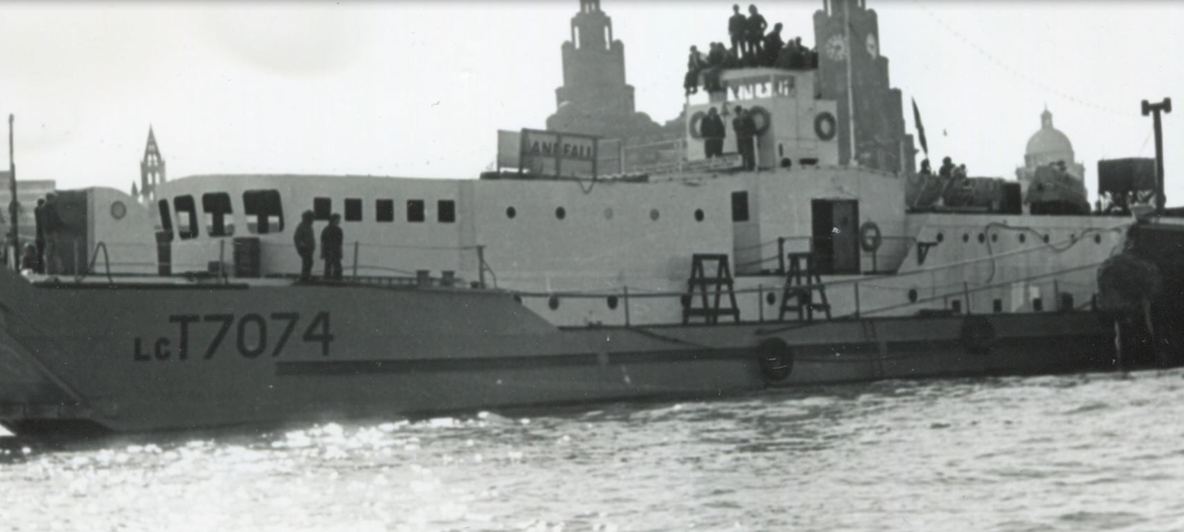 Image of the LCT on the water