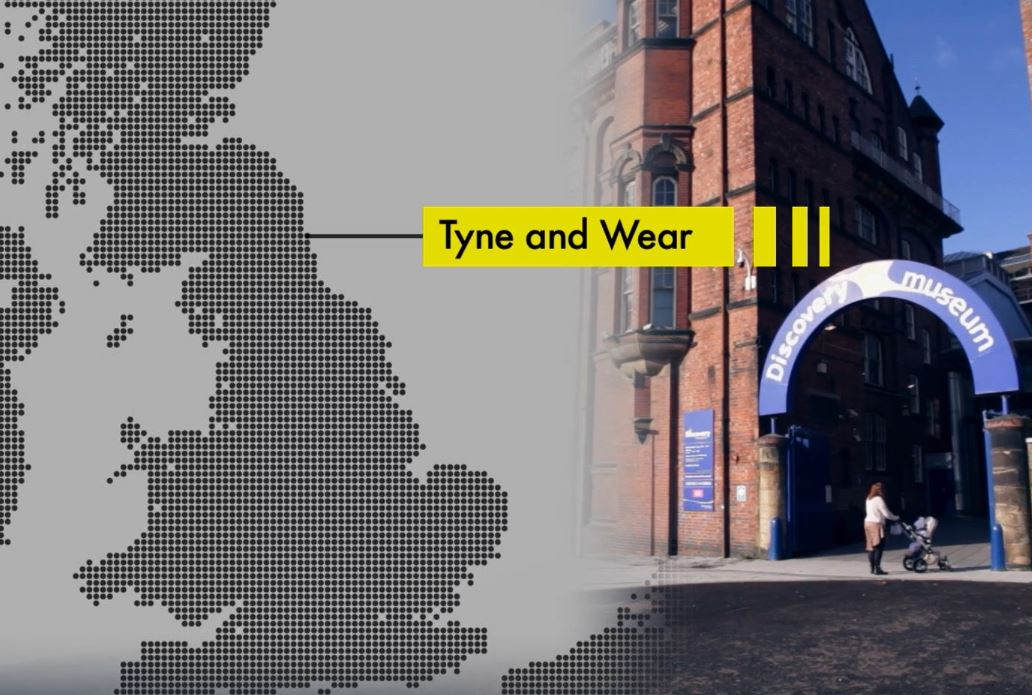 Tyne & Wear plotted on a D-Day style map