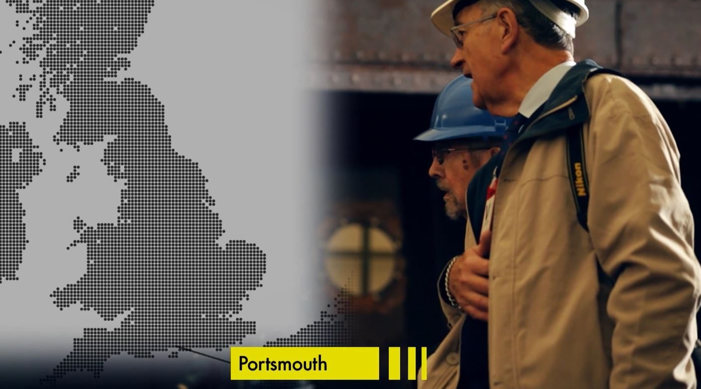 Portsmouth plotted on a D-Day style map