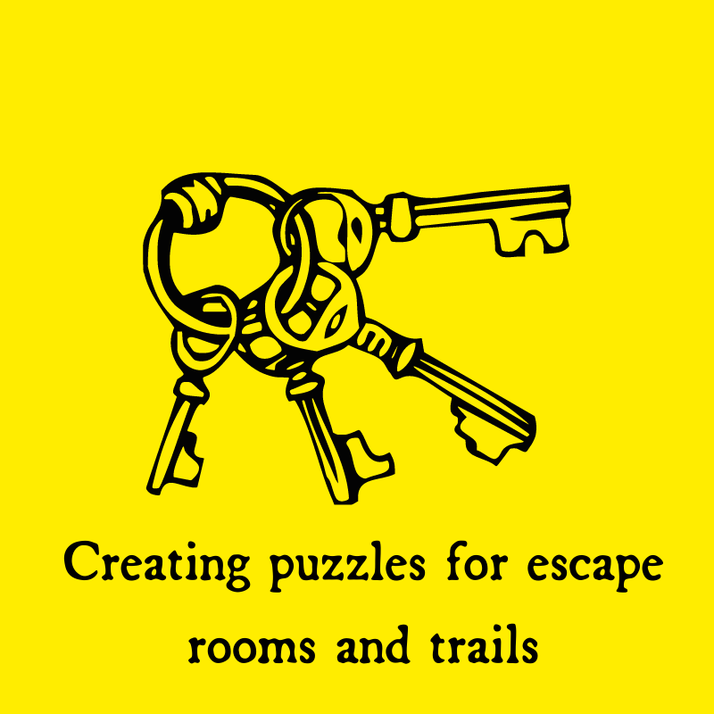 Creating puzzles for escape rooms and trails